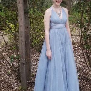 5811d65449 ASOS Dresses - ASOS Premium Tulle Maxi Prom Dress with Ribbon Tie